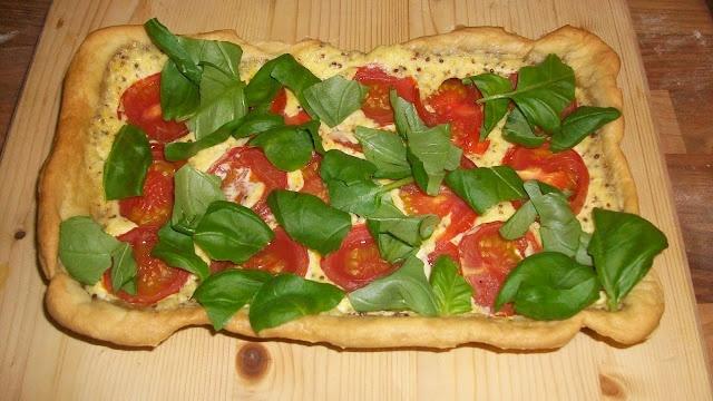 Tomato and Basil Tart | Recipes To Make | Pinterest