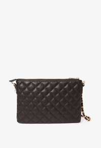 Forever 21 -Quilted faux leather shoulder bag