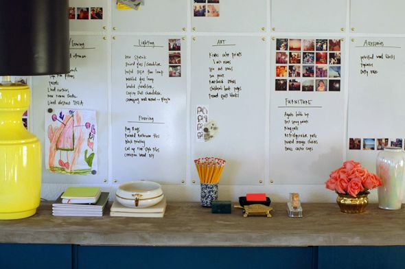 Love these whiteboards and the (Stickygram pics) | Little Green Notebook