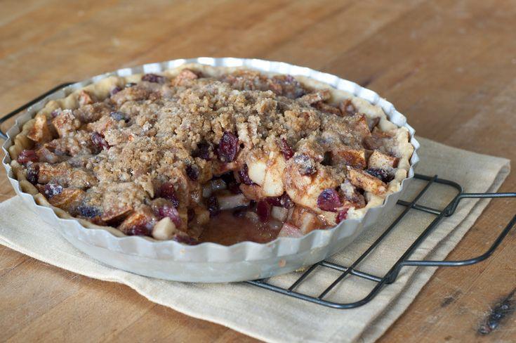 Apple-Cranberry Crumb Pie   Recipe