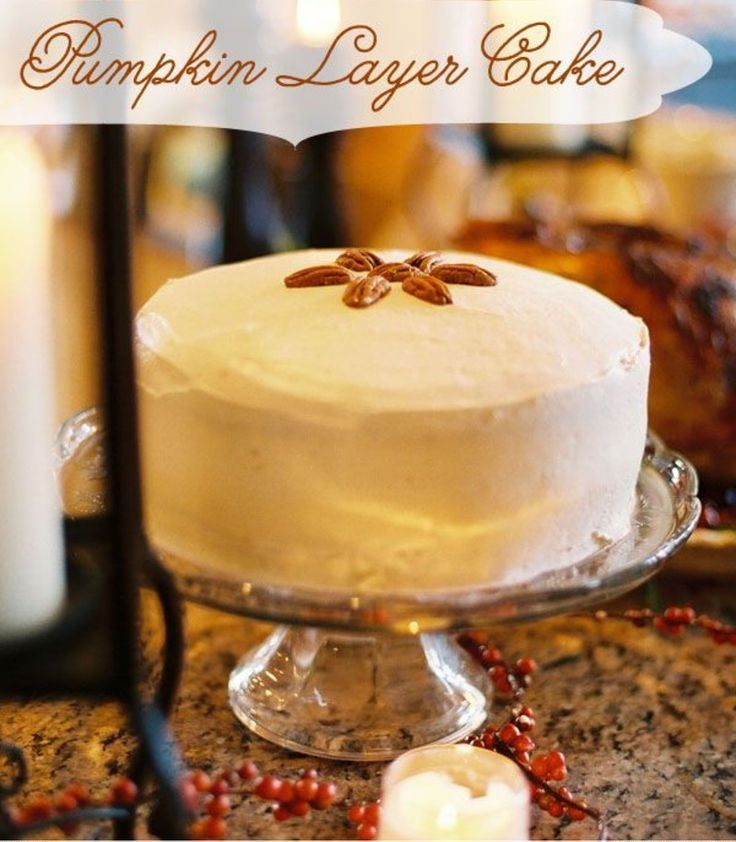 Brown Butter Pumpkin Layer Cake | recipes | Pinterest
