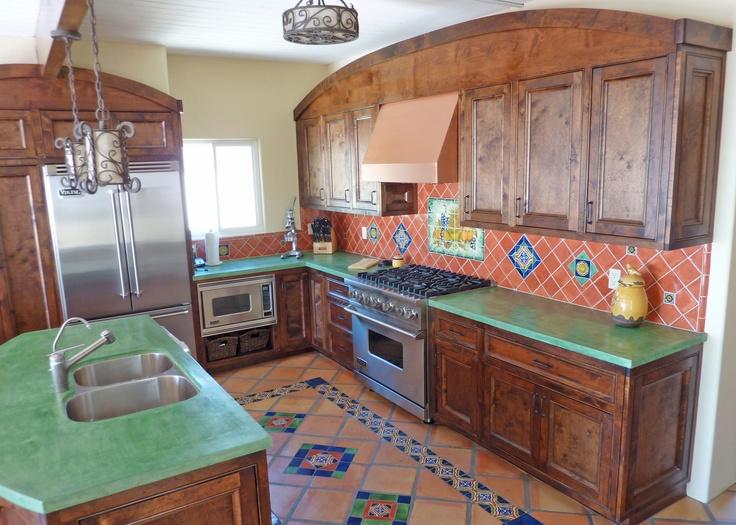 Kitchen Remodel Using Mexican Tiles Tile Designs Pinterest