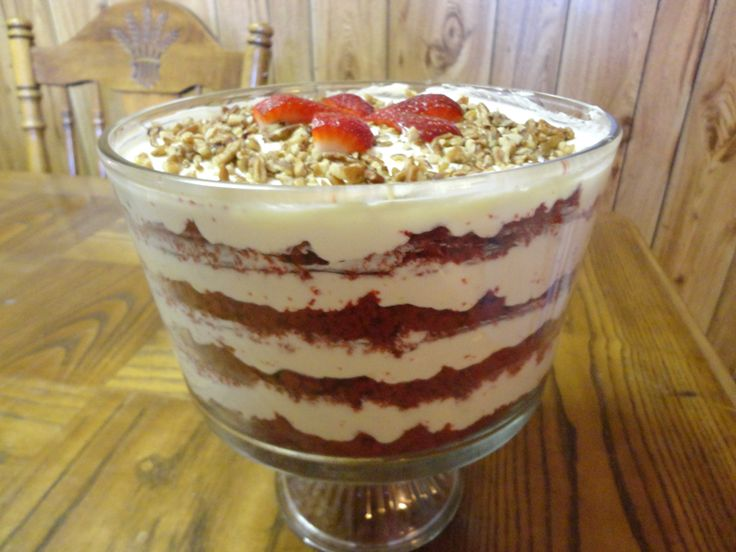 Red Velvet Cake Trifle | Recipe