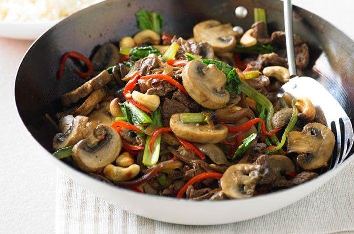 Mushroom, beef & cashew stir-fry | Food & Drinks. Yums! | Pinterest