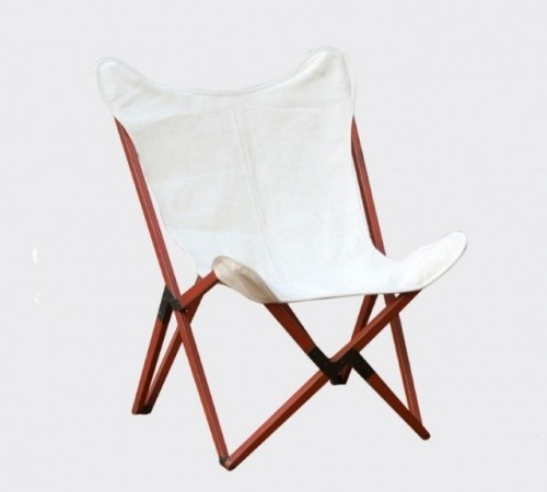 Wooden canvas butterfly chair
