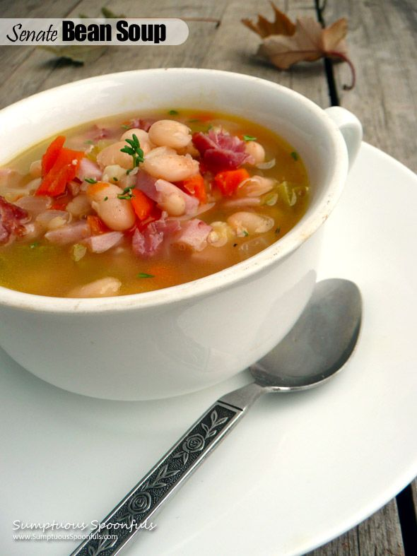 Senate Bean Soup ~ slightly modified by Sumptuous Spoonfuls - Makes 1 ...