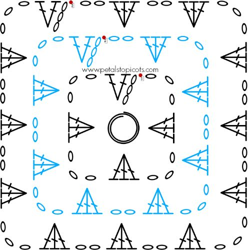 Basic Crochet Pattern For Granny Square : Crochet Granny Square Pattern
