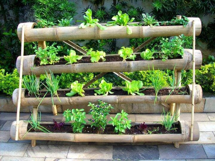 jardim vertical bambu:Vertical Bamboo Planter
