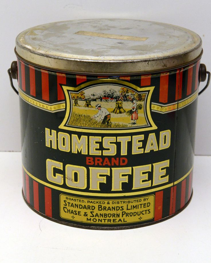 Vintage coffee can for the love coffee pinterest - What are coffee cans made of ...