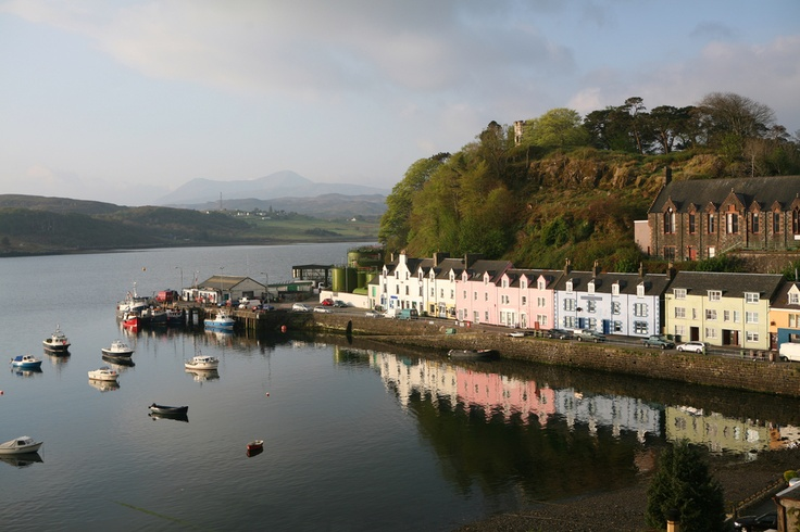 Quaint Little Harbour On Scottish Island Village Life