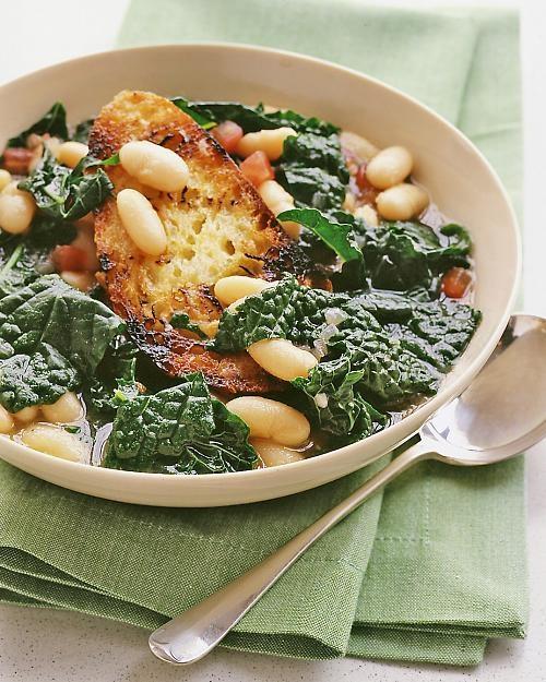 Cavolo Nero and Cannellini Bean Soup: Cavolo nero, AKA Tuscan kale, is ...