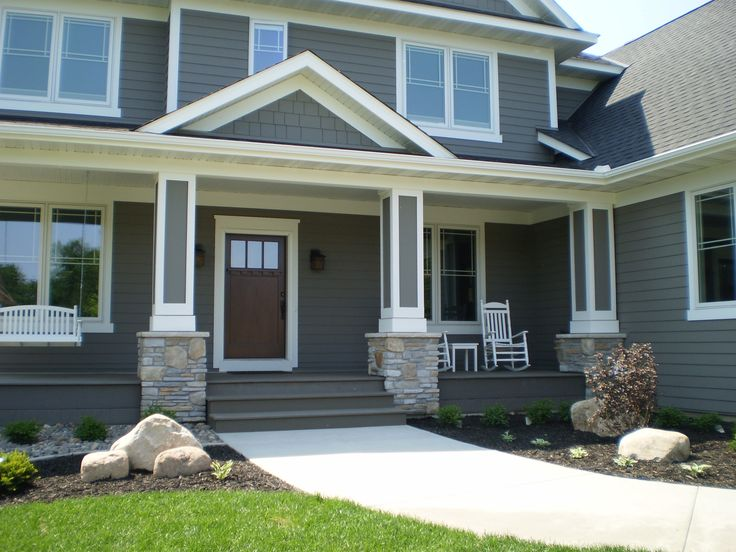 Gray Exterior With White Trim 163rd Ave Pinterest