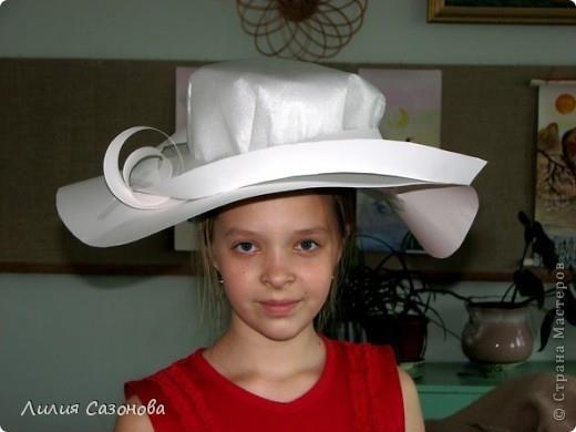 Шляпа женская своими руками из бумаги
