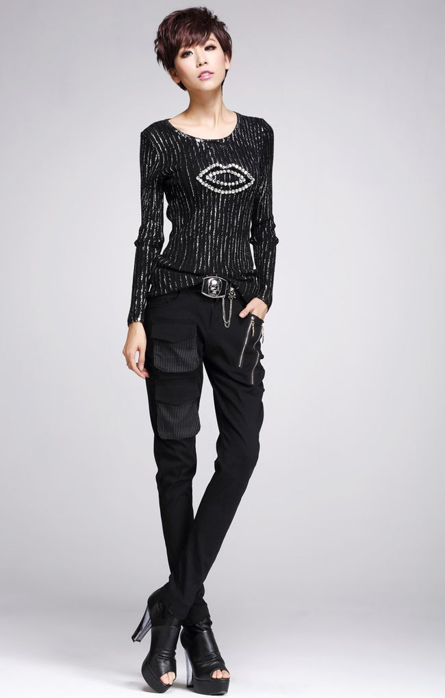 Black Sweater European Style .Shop this look for $24,11 at  http://www.e1sweater.com/productdisplay/index/pid/675152/