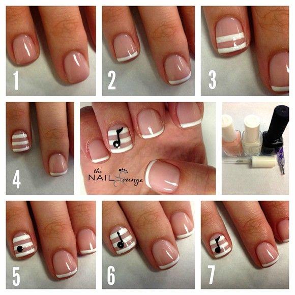 Nail Art How To, Nail Tutorial, Step-by-Step, Nail Designs, Cute Nails, Music Note Nails | NAILPRO