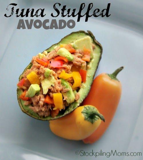 Tuna Stuffed Avocado paleo recipe   Mediterranean Diet   Pinterest