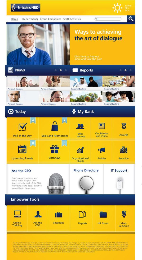 Intranet Design Ideas Proposed Intranet Design On Behance