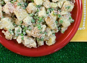 Potato Salad With Peas And Mint Recipe — Dishmaps