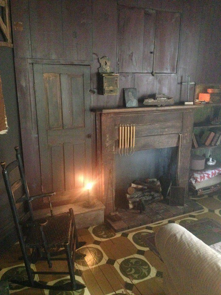 Primitive Keeping Room Colonial Style Fireplace Pinterest