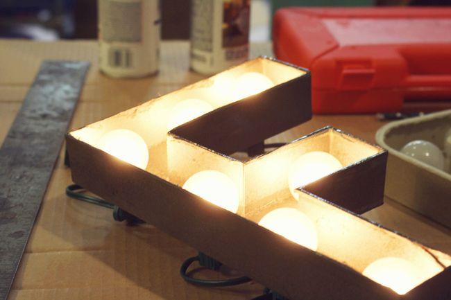 Marquee Light Craft Ideas Pinterest
