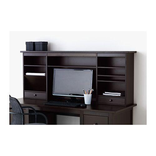 HEMNES Add on unit for desk, black brown