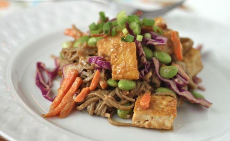 Soba Noodles and Tofu with Spicy Peanut Sauce   Recipe