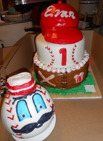 Cincinnati Red Birthday Cake