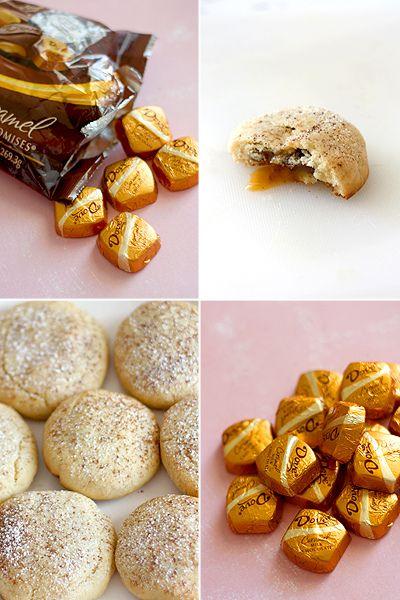 chocolate caramel surprise cookies