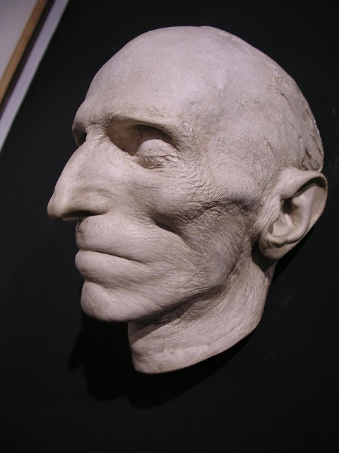 Death mask of Nikolai Tesla