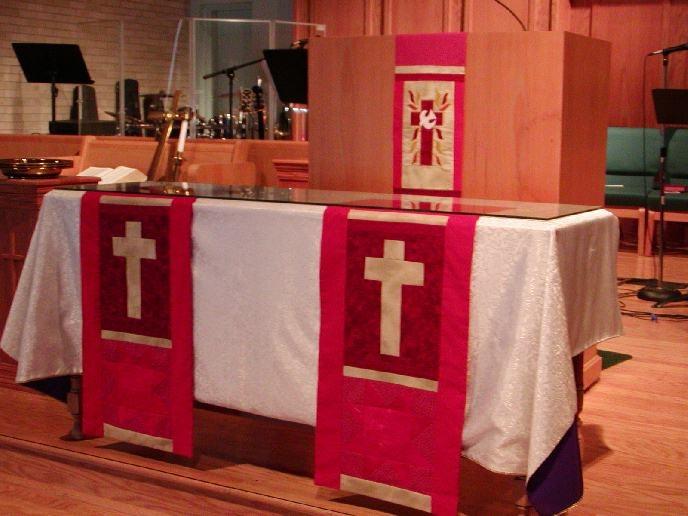 pentecost altar decorations