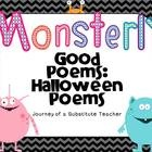 This 16 page set of poems has 8 Halloween poems. Each poem comes in fun colored set and also a printer friendly set! Includes poems about :*Mo...