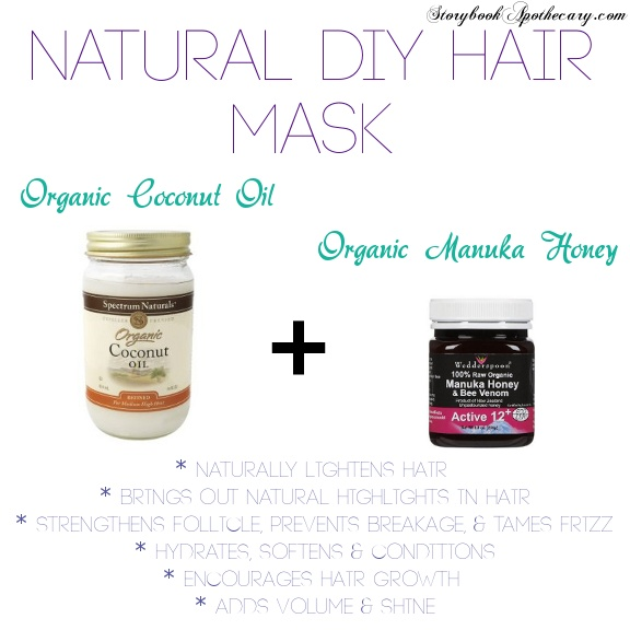Natural #DIY Hair Mask #Recipe to Repair Damage, Dryness, Frizz, Loss of Volume, & Naturally Highlight & Lighten #Hair! #beauty _StorybookApothecary.com