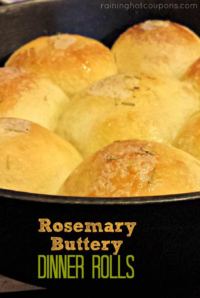 rosemary dinner rolls Rosemary Buttery Dinner Rolls