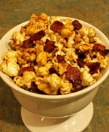 ... must never make this Sweet and salty maple-bacon kettle corn