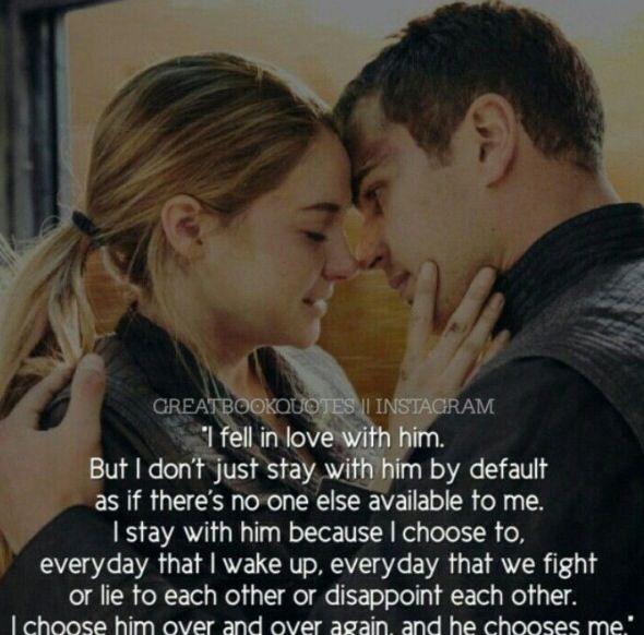 Divergent   Tris   TobiasDivergent Quotes Tris And Four Love