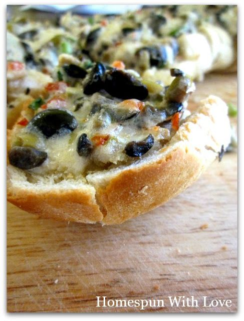 Olive Cheese Bread aka YUM!!! | Appetizers | Pinterest