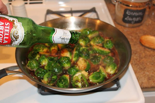 One Lucky Girl: Bacon-Beer Brussels Sprouts