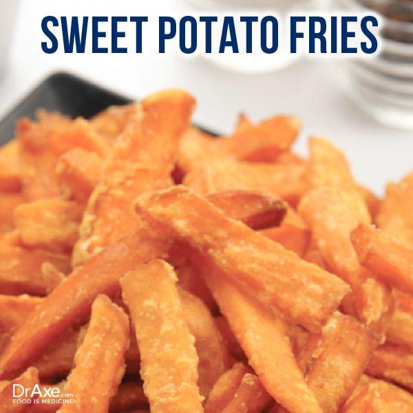 Sweet Potato Fries: Ingredients- 1-1 1/2 lbs. sweet potatoes 1/4 c ...