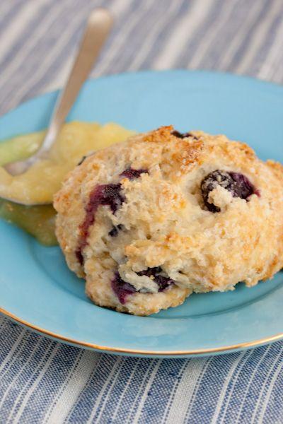 Recipe: Best Blueberry Scones with Lemon Glaze http://bigflavors ...