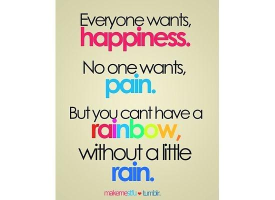 no pain. no gain.
