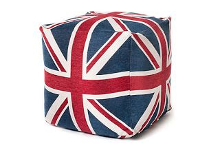 London, England, uk, united kingdom, british, union jack, union jack pouf, pouf seat, pillow. seating, the royal nursery