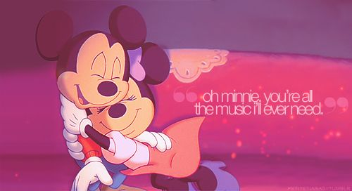 Mickey & Minnie Mouse! So cute.