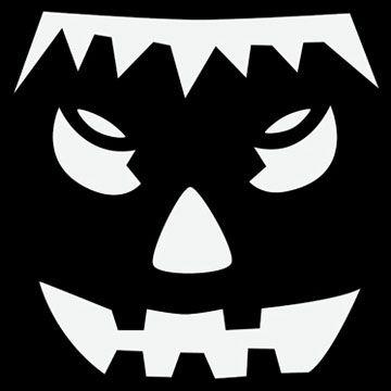 Free pumpkin stencils for halloween for Frankenstein pumpkin templates