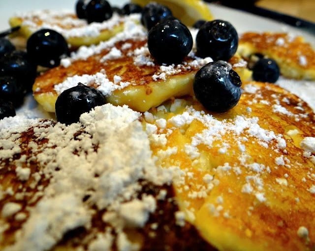 Fluffy Lemon-Blueberry Cottage Cheese Pancakes | Unfussy Epicure