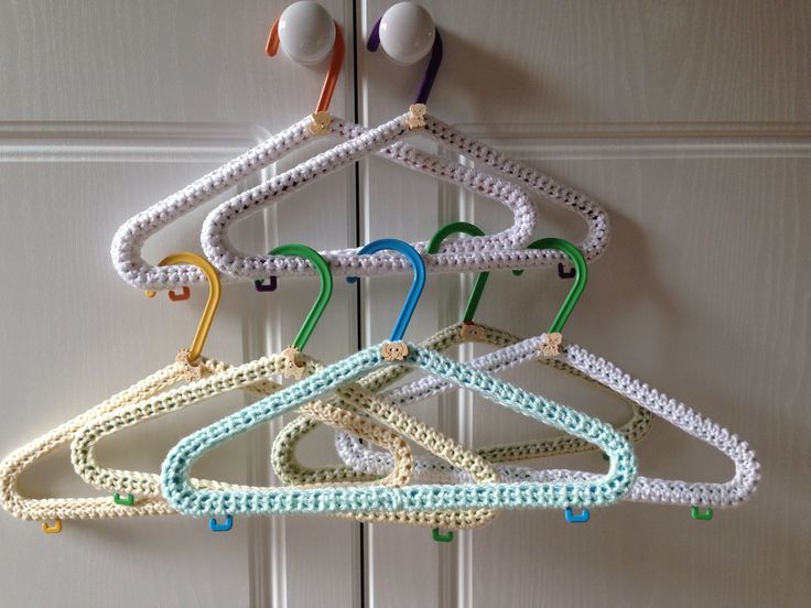 Crocheting On A Hanger : Crochet Baby hangers Crochet Pinterest