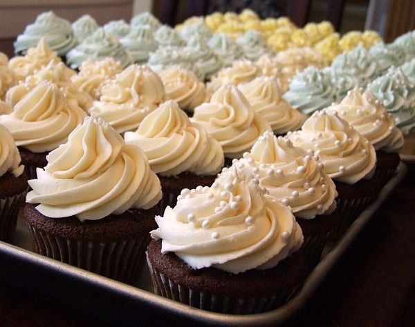 Wedding Cake Butter Cream Frosting! So smooth and delicious. Definitely my go to recipe now.