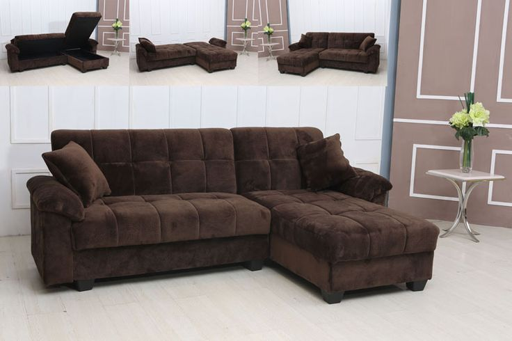 Pin by furniturecheck on small sectionals pinterest for Brown microfiber chaise lounge