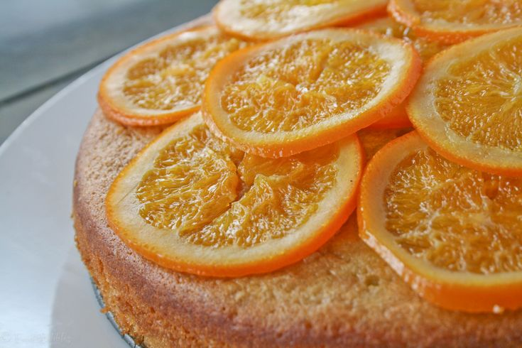 Olive Oil Cake with Candied Oranges