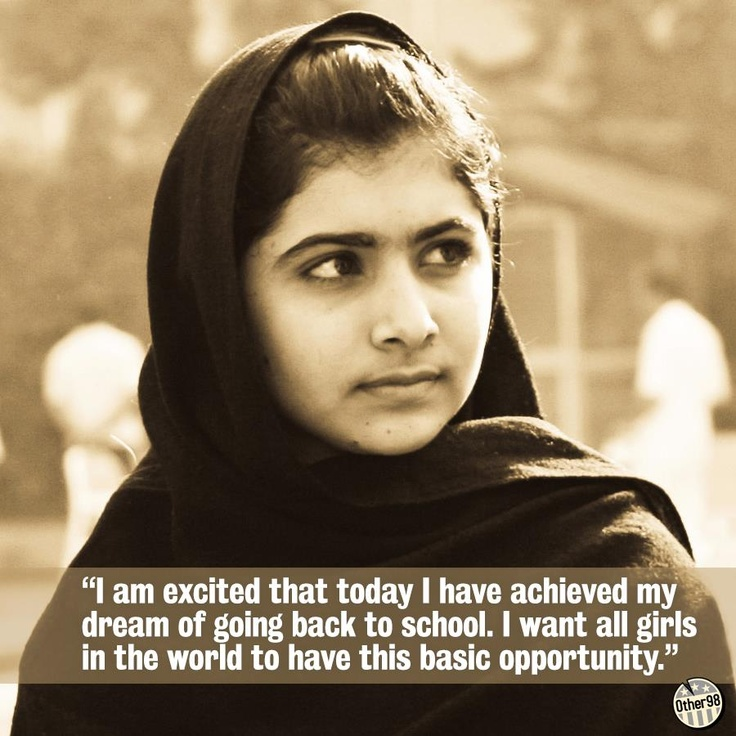 """the brave girl malala yousafzai """"130 million girls is a lot of folks around the world and so this is a bold ambition this is exactly what apple loves to work on and is something that everybody is saying is impossible"""" hear more from tim cook and malala yousafzai on good morning america today apple and malala fund announced."""