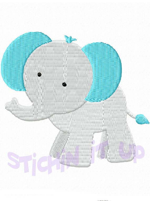 4X4 Baby Elephant Machine Embroidery Design Multiple